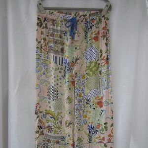 Anthropologie S Patchwork Floral Spring Pants